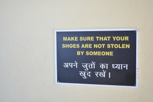 Important advice at the Dalai Lama Temple